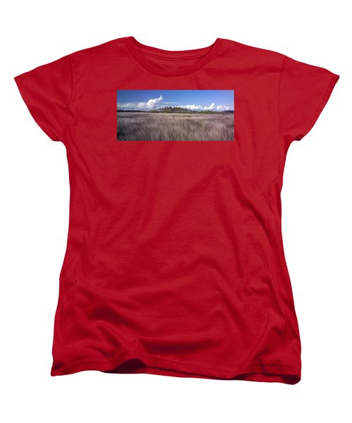 Women's T-Shirt (Standard Cut) featuring the photograph Tidal Marsh On Roanoke Island by Greg Reed
