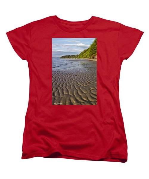 Women's T-Shirt (Standard Cut) featuring the photograph Tidal Pattern In The Sand by Jeff Goulden
