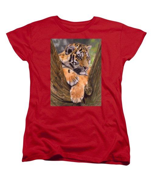 Tiger Cub Painting Women's T-Shirt (Standard Cut)