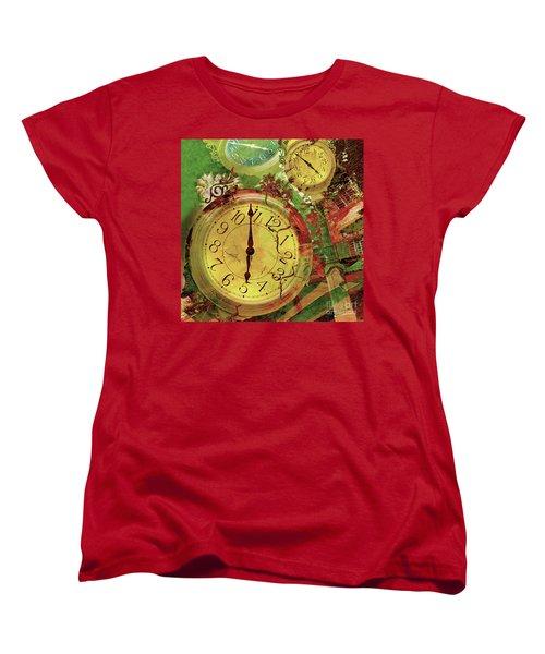 Time 6 Women's T-Shirt (Standard Cut) by Claudia Ellis