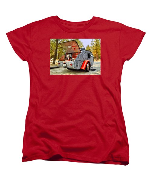 Time For Camping Women's T-Shirt (Standard Cut) by Michael Pickett