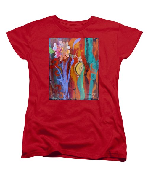 Women's T-Shirt (Standard Cut) featuring the painting Time Traveler by Robin Maria Pedrero