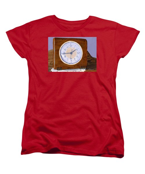 Women's T-Shirt (Standard Cut) featuring the painting Time Will Tell by Lynne Reichhart