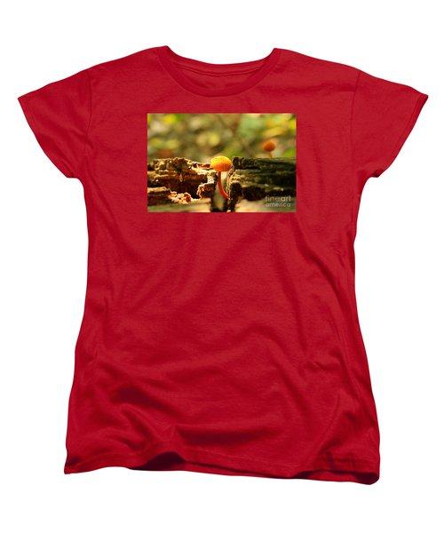 Tiny Mushroom Women's T-Shirt (Standard Cut)