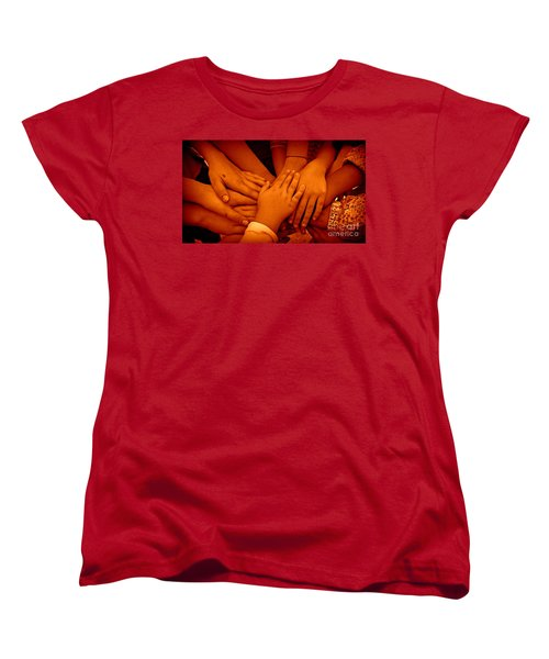 Women's T-Shirt (Standard Cut) featuring the photograph Together by Clare Bevan