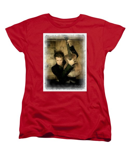 Tom Waits Women's T-Shirt (Standard Cut) by Paulette B Wright