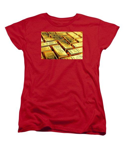 Tons Of Gold Women's T-Shirt (Standard Cut) by Carsten Reisinger