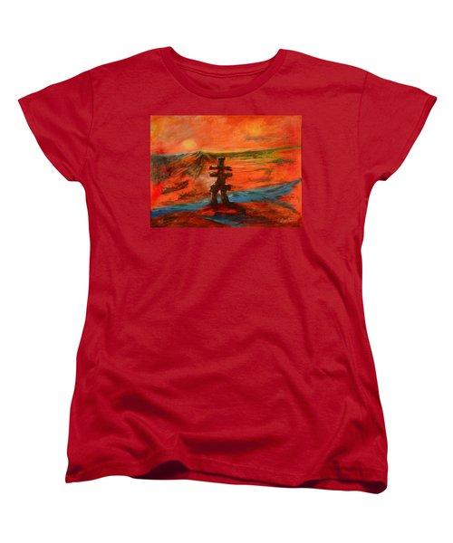 Top Of The World Women's T-Shirt (Standard Cut) by Sher Nasser