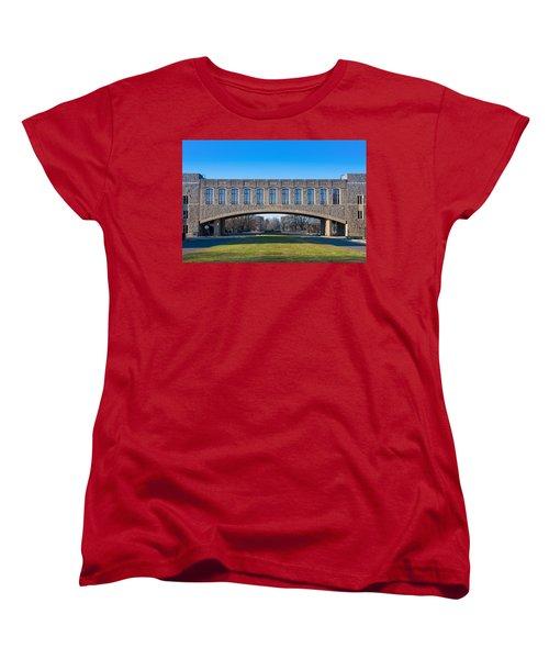 Torgersen Hall At Virginia Tech Women's T-Shirt (Standard Cut) by Melinda Fawver