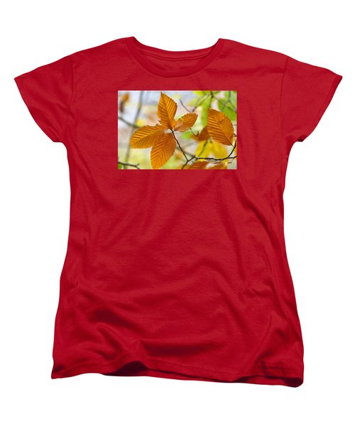 Touch Of Gold Women's T-Shirt (Standard Cut) by Jan Amiss Photography