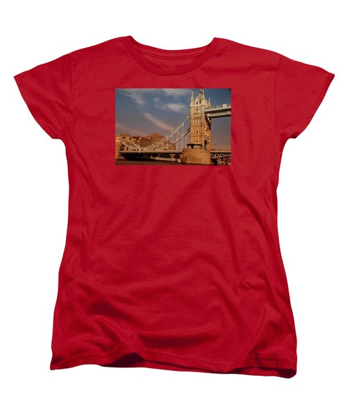 Tower Bridge Sunset Women's T-Shirt (Standard Cut) by Jonah  Anderson