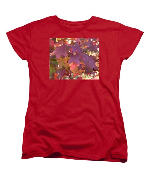 Women's T-Shirt (Standard Cut) featuring the photograph Traces Of Fall by Andrea Anderegg