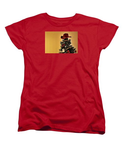 Women's T-Shirt (Standard Cut) featuring the photograph Tree Topper Texas Style by Nadalyn Larsen