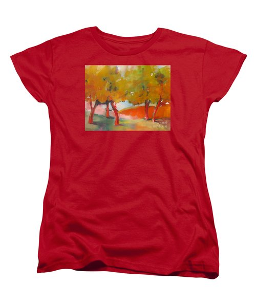 Women's T-Shirt (Standard Cut) featuring the painting Trees #5 by Michelle Abrams