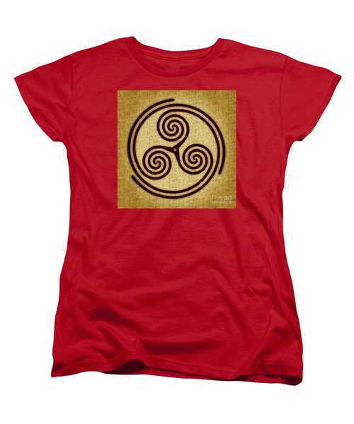 Triskelion  Women's T-Shirt (Standard Cut) by Olga Hamilton