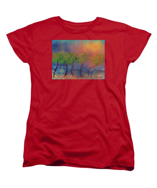 Tropical Sorm On The Way Out Women's T-Shirt (Standard Cut) by Renee Michelle Wenker