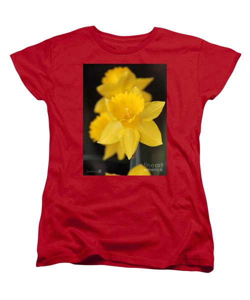 Trumpet Daffodil Named Exception Women's T-Shirt (Standard Cut) by J McCombie