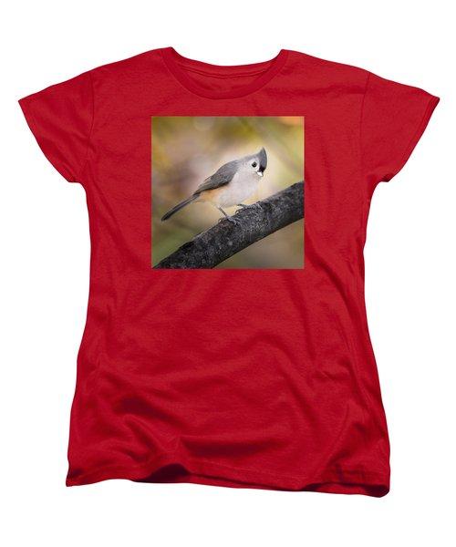 Tufted Titmouse Women's T-Shirt (Standard Cut) by Bill Wakeley