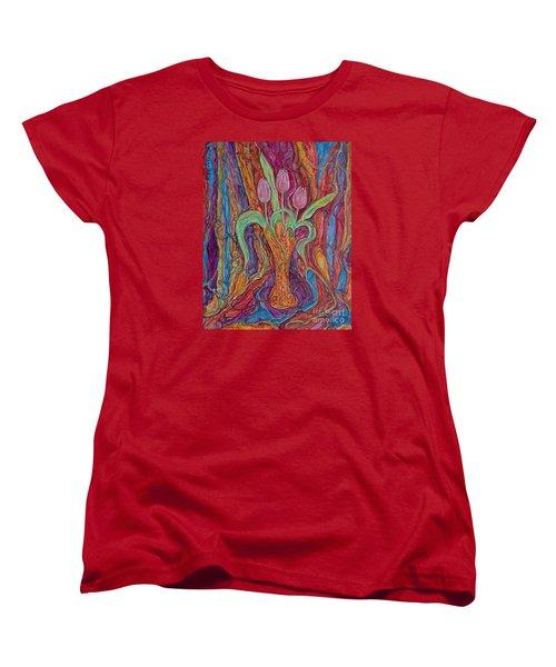 Tulips II Women's T-Shirt (Standard Cut) by Anna Yurasovsky