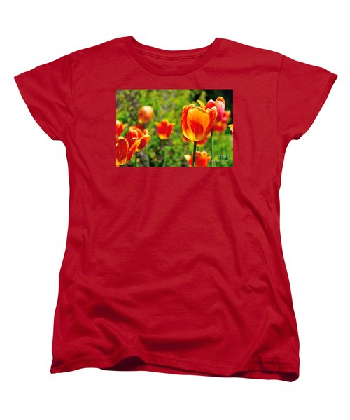 Women's T-Shirt (Standard Cut) featuring the photograph Tulips by Joe  Ng