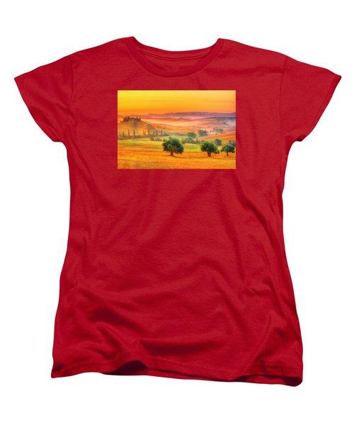 Tuscan Dream Women's T-Shirt (Standard Cut) by Midori Chan