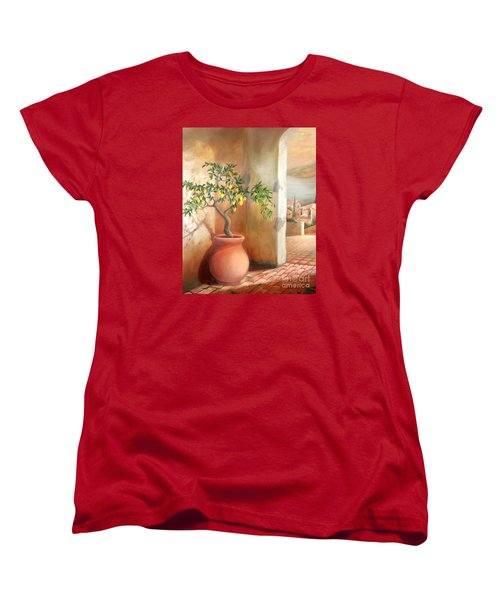 Tuscan Lemon Tree Women's T-Shirt (Standard Cut) by Michael Rock