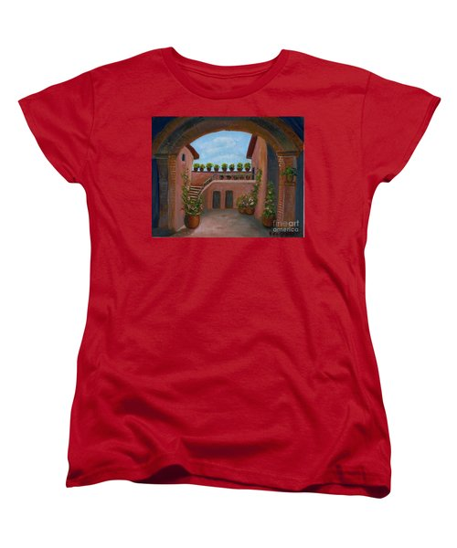 Tuscany Arch Women's T-Shirt (Standard Cut) by Becky Lupe