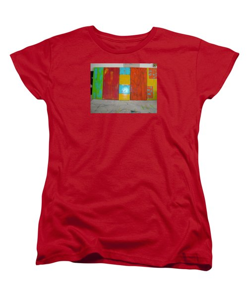 Women's T-Shirt (Standard Cut) featuring the painting Tuscany Seasons by Sharyn Winters