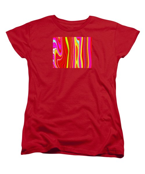 Women's T-Shirt (Standard Cut) featuring the painting Twiggy Stripes C2014 by Paul Ashby