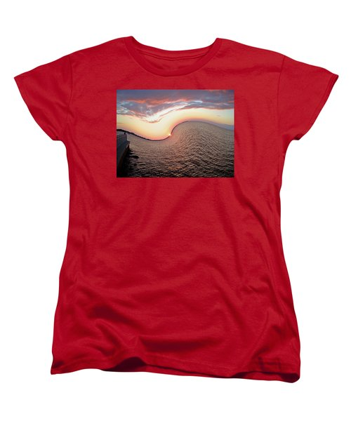 Women's T-Shirt (Standard Cut) featuring the photograph Twisted Sunset by Aimee L Maher Photography and Art Visit ALMGallerydotcom