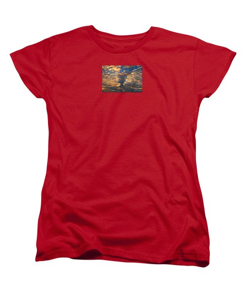 Women's T-Shirt (Standard Cut) featuring the photograph Twisted Sunset by Janice Westerberg