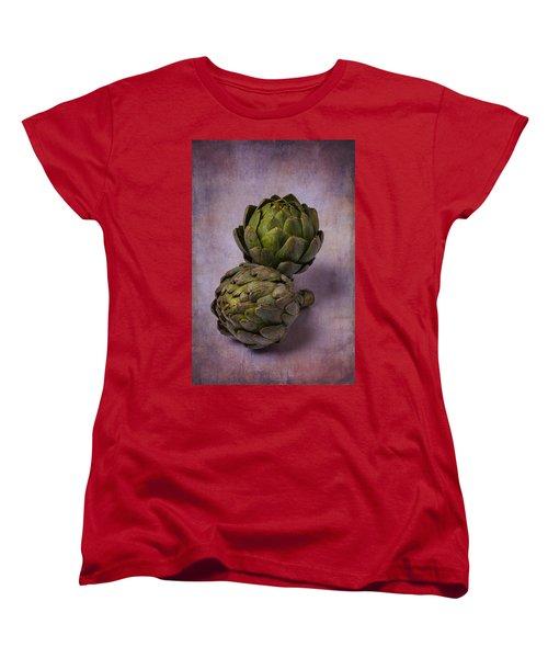 Two Artichokes Women's T-Shirt (Standard Cut) by Garry Gay