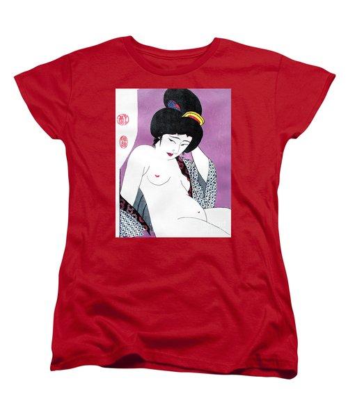 Uchikina Geisha Women's T-Shirt (Standard Cut) by Roberto Prusso