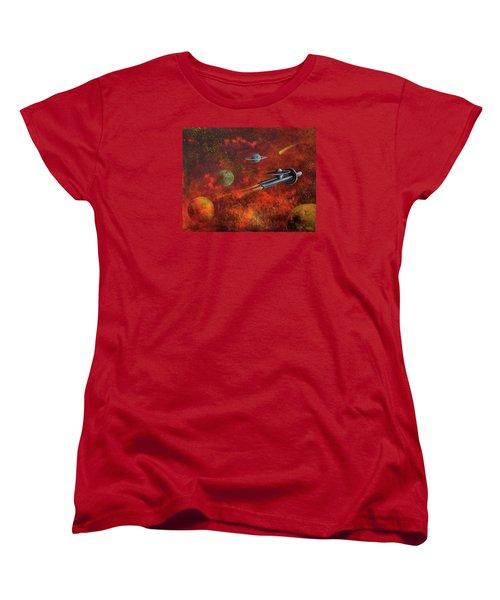 Unidentified Flying Object Women's T-Shirt (Standard Cut) by Randy Burns
