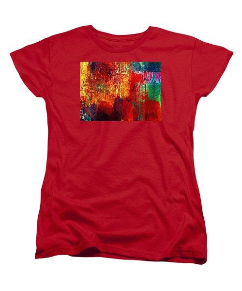 Untamed Colors  Women's T-Shirt (Standard Cut) by Prakash Ghai
