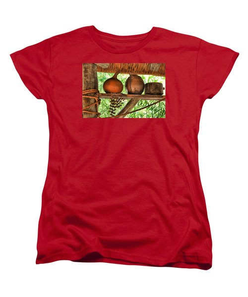 Women's T-Shirt (Standard Cut) featuring the photograph Up On A Shelf by Jan Amiss Photography