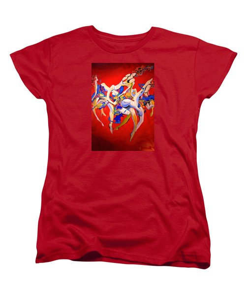Women's T-Shirt (Standard Cut) featuring the painting Valkyries by Georg Douglas