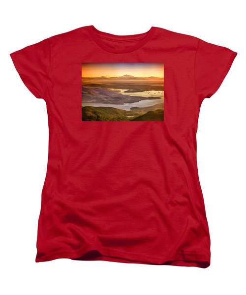 Vancouver And Mt Baker Aerial View Women's T-Shirt (Standard Cut) by Eti Reid