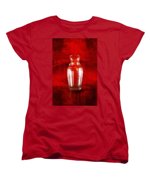 Women's T-Shirt (Standard Cut) featuring the photograph Vase En Rouge by Aaron Berg