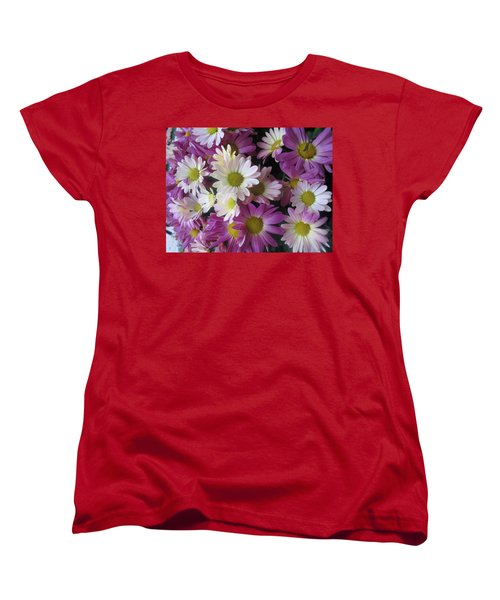 Women's T-Shirt (Standard Cut) featuring the photograph Vegas Butterfly Garden Flowers Colorful Romantic Interior Decorations by Navin Joshi