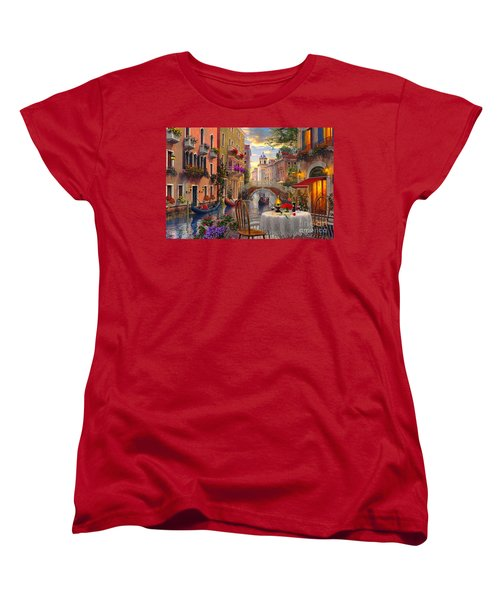 Venice Al Fresco Women's T-Shirt (Standard Cut) by Dominic Davison