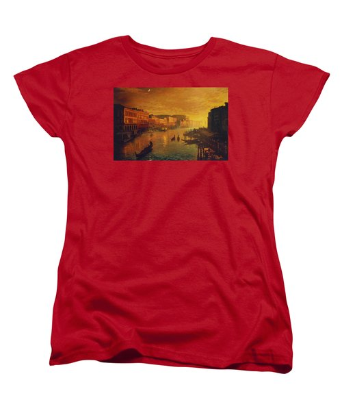 Venice From The Rialto Bridge Women's T-Shirt (Standard Cut) by Blue Sky