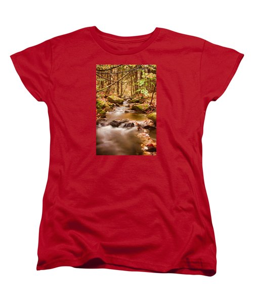 Women's T-Shirt (Standard Cut) featuring the photograph Vermont Stream by Jeff Folger