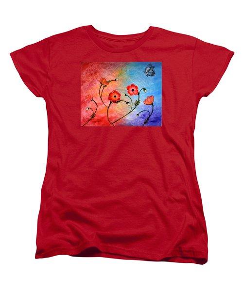 Vibrant Poppies Women's T-Shirt (Standard Cut)