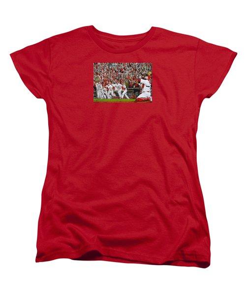 Victory - St Louis Cardinals Win The World Series Title - Friday Oct 28th 2011 Women's T-Shirt (Standard Cut)