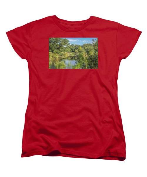 View Down The Creek Women's T-Shirt (Standard Cut) by Jane Luxton