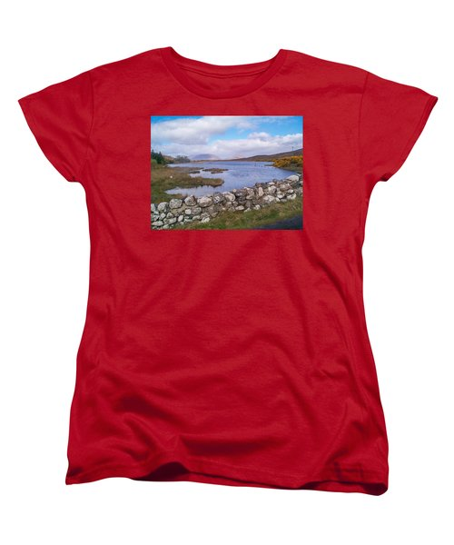 Women's T-Shirt (Standard Cut) featuring the photograph View From Quiet Man Bridge Oughterard Ireland by Charles Kraus