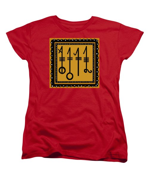 Women's T-Shirt (Standard Cut) featuring the digital art Viking Sleepthorn Spell by Vagabond Folk Art - Virginia Vivier