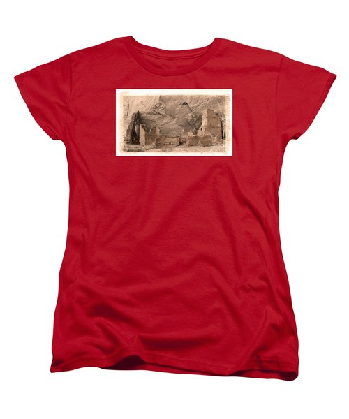 Vintage Canyon De Chelly Women's T-Shirt (Standard Cut) by Jerry Fornarotto