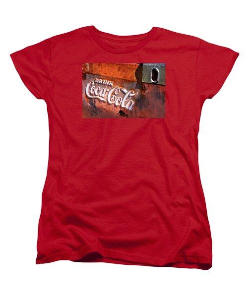 Women's T-Shirt (Standard Cut) featuring the photograph Vintage Coca Cola by Steven Bateson